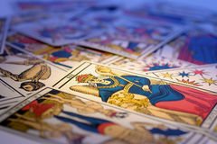 Tarot Cards. In Warm Cast stock image