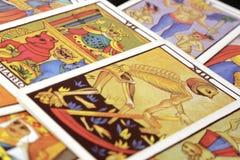 Tarot cards. Colorful tarot cards, close up Stock Images