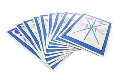 Tarot Cards. On Isolated White Background Stock Images