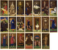 Tarot Cards - Arcanum. Medieval tarot cards, scanned from old books Stock Image