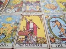 Tarot cards background stock image