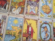 Tarot cards background Royalty Free Stock Photography