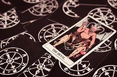The Tarot Cards - The Devil Card. Royalty Free Stock Photography