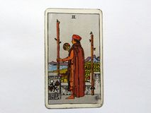 Tarot Cards Divination Occult Magic. Tarot Cards for divination purposes, magic and occult and soul guidance royalty free stock photo