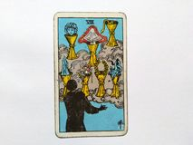 Tarot Cards Divination Occult Magic. Tarot Cards for divination purposes, magic and occult and soul guidance stock image