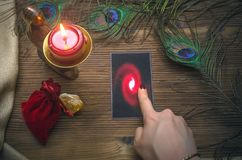Tarot cards. Fortune teller. Divination. Tarot cards and fortune teller. Future reading concept Royalty Free Stock Photo