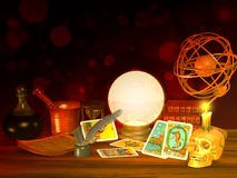Tarot Cards, fortune telling Stock Photography