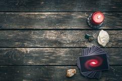 Tarot cards. Future reading concept. Divination. Tarot cards on fortune teller table. Future reading. Divination concept Stock Photos