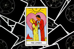 Tarot cards of love Stock Photography