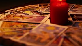 Tarot Cards stock video
