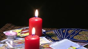 Tarot Cards stock footage