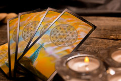 Tarot cards and other accessories Stock Image