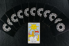 Tarot cards & The sun Royalty Free Stock Photography