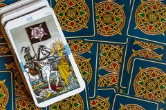 The Tarot Cards. Tarot cards Tarot, the card in the foreground Royalty Free Stock Image