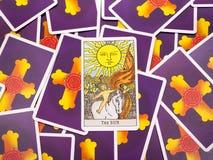 Tarot cards Tarot, the sun card Royalty Free Stock Photos