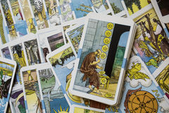 Tarot Cards. In Warm Cast royalty free stock photos