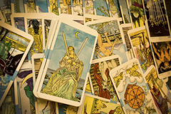 Tarot Cards. In Warm Cast stock photos
