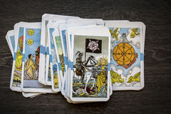 Tarot Cards. In Warm Cast royalty free stock photos
