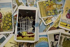 Tarot Cards. In Warm Cast stock images