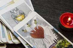 Tarot Cards. In Warm Cast royalty free stock images