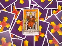 Tarot de cartes de tarot, la carte d'empereur Photographie stock libre de droits