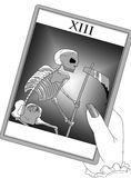 The tarot death's card Royalty Free Stock Image