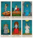 Vintage tarot deck, old style illustrations
