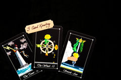 Tarot Deck - Tarot 3 Card Readings. Tarot - 3 Card readings with deck of Tarot cards Royalty Free Stock Photography