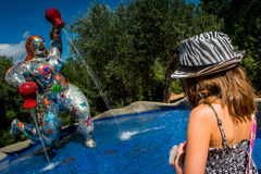 Tarot Garden near Pescia Fiorentina in Tuscany Stock Photos