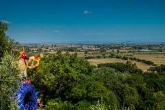Tarot Garden near Pescia Fiorentina in Tuscany Royalty Free Stock Images