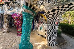 The Tarot Garden is a sculpture garden based on the esoteric tarot, created by the French artist Niki de Saint Phalle royalty free stock photos