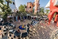 The Tarot Garden is a sculpture garden based on the esoteric tar. Pescia Fiorentina, Italy - June 24, 2017: The Tarot Garden is a sculpture garden based on the royalty free stock photos
