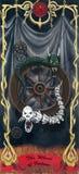 Tarot het wiel van fortuna Stock Afbeelding