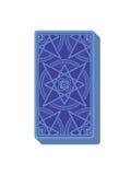 Tarot kart odwrotna strona deckchair Sterta karty Obrazy Royalty Free
