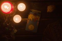 Tarot karta Przyszłościowy czytanie wróżba Fotografia Royalty Free