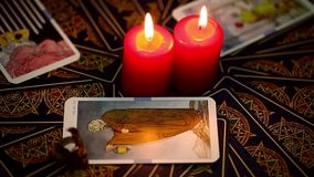 Tarot Karten stock video