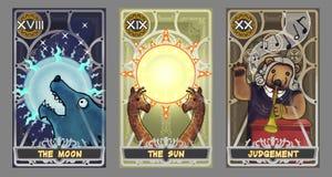 Tarot karty ilustraci set Fotografia Stock