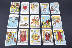 Tarot kort Royaltyfri Foto