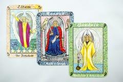 Tarot kort Royaltyfri Bild