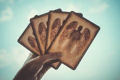 Tarot/Oracle cardan Foto de archivo libre de regalías