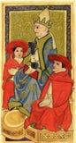 Tarot card,  the Hierophant (Pope) royalty free stock photo