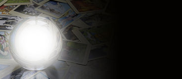 Tarot Reader's website banner Royalty Free Stock Images