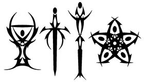 Tarot tattoo symbols Stock Images