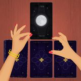 Tarot view from above. Illustration of tarot view from above Stock Photography
