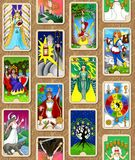 Tarot wallpaper. Seamless wallpaper design featuring my tarot cards, The Hallmark Tarot stock photography