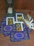 Tarotlezer Groepering van tarot royalty-vrije stock foto