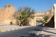 Taroudant's defensive wall gate Royalty Free Stock Images