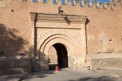 Taroudant's defensive wall gate Stock Photo