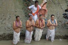 tarpan hinduiska ritualer Royaltyfria Bilder