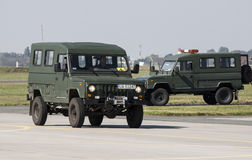 Tarpan Honcer - Polish SUV 4x4. The car in the colors of the Polish Army Royalty Free Stock Image